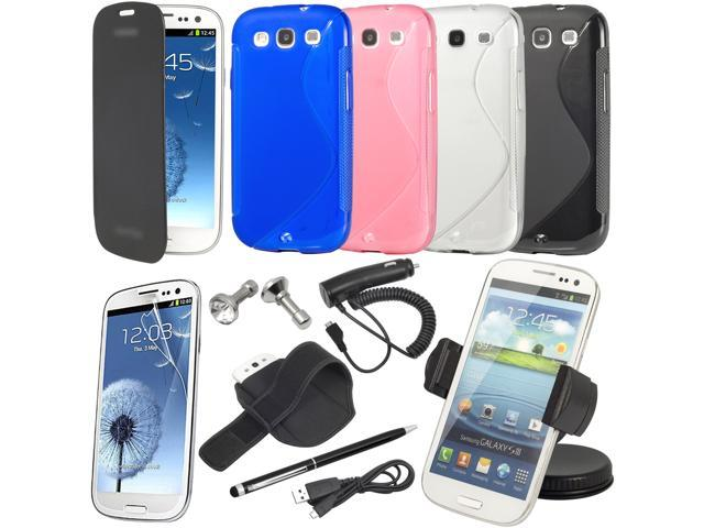 15 Accessory Car Charger Holder Leather Case for Samsung Galaxy S3 i9300 BC122-NE1