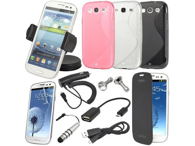17in1 S-line Case Car Holder Charger Cable For For Samsung Galaxy S3 i9300 BC135
