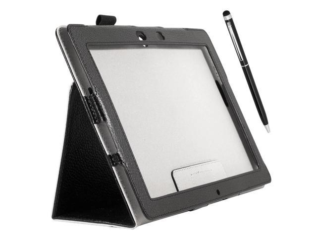 Folio Case Cover With Pouch Strap + Stylus For ASUS MeMO Pad Smart Me301T PC501B