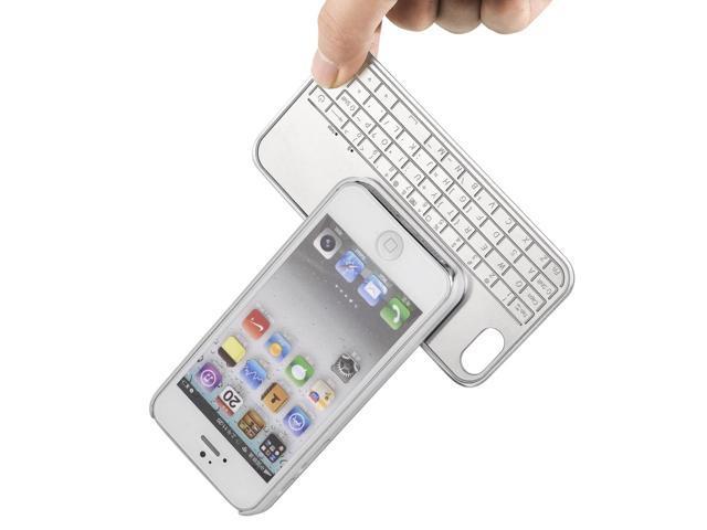 For iPhone 5 + Film /Super Thin Aluminum Magnetic Bluetooth Keyboard Case PC474W-NE1