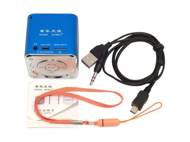 MUSIC ANGEL mini speaker fm radio TF for IPOD IPHONE 4 Usb Pc phone Blue IP46L