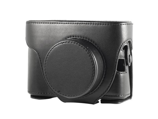 Leather Case Bag Faux PU for FUJIFILM FinePix X100 Black Color with Strap LF187B