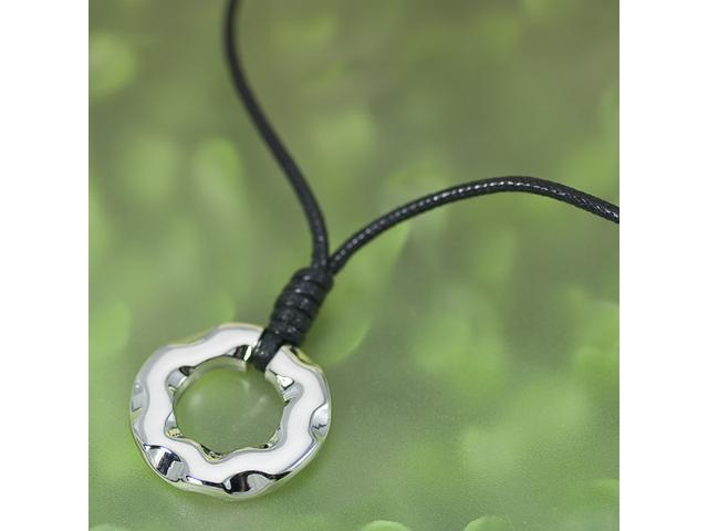 Modern Hoop Pendant silver plated Necklace N45