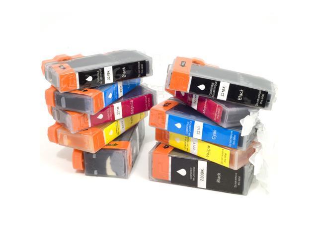 10 PGI-220BK CLI-221BK/C/M/Y Ink Cartridge For Canon Pixma Inkjet Printers IC14