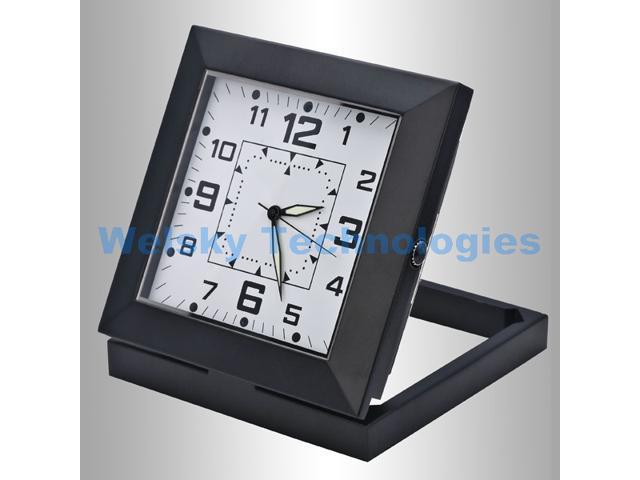 Black Spy Clock Mini DVR Pinhole Security Camera SW29B