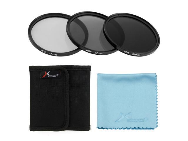 XCSource 3pcs 67mm ND2 ND4 ND8 Neutral Density Lens Filter for Canon 70D 60D 50D 6D LF288-NE1