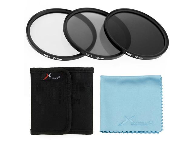 XCSource 3pcs 72mm ND2 ND4 ND8 Neutral Density Filter Set for Canon 70D 60D 6D 7D LF289-NE1