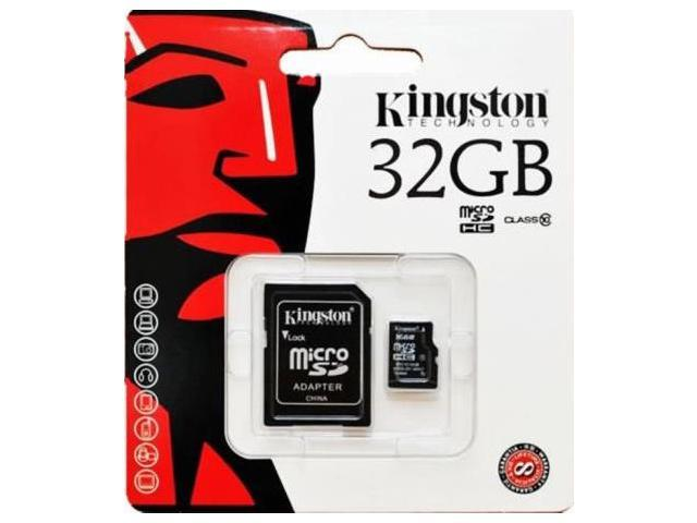 Kingston 32GB 32G MicroSDHC Micro SD HC SDHC Memory Card UHS-1 Class 10 C10 SDC10/32GB W/ Adapter + Retail Packing