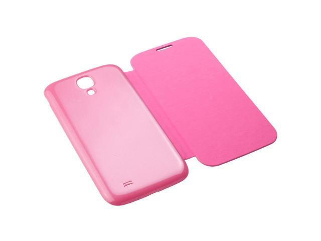 XCSOURCE® PU Leather Flip Battery Case Cover For Samsung Galaxy S4 SIV i9500 + Protector Pink PC511P