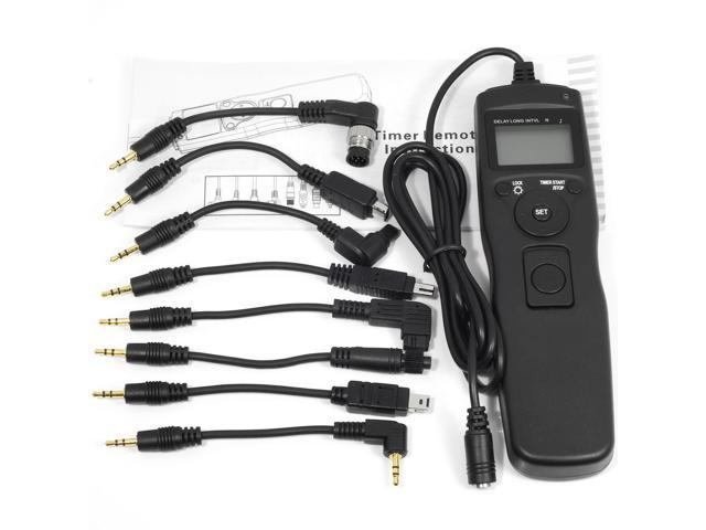 Xcsource® Timer Remote Shutter for Canon Nikon Sony Olympus with 8pcs Cable Cord DC175