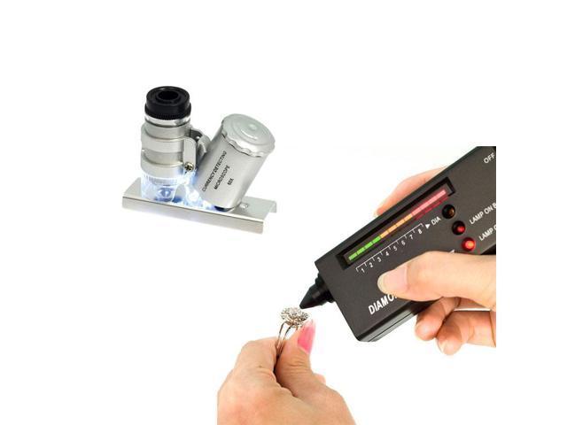 Xcsource® Diamond Selector Analyzer Tester Gemstone Tool+ 60X Jewelry Magnifier Loupe TE020