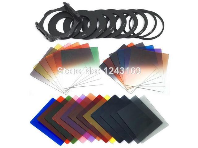 Xcsource® 34in1 Super Color Filter Set for Cokin P ND2 ND4 ND8 G.ND2 9 Adapter Ring LF78-SZ