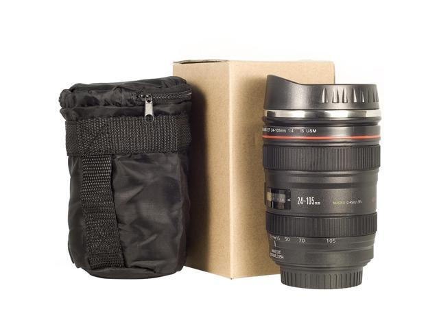 XCSOURCE® Best Gift 350ML Camera Stainless Lens cup Mug EF 24-105mm Coffee Mug with Lid DC140