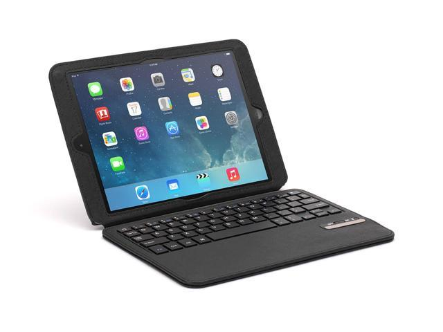 Black Slim Bluetooth Keyboard Folio Case for iPad Air and Air 2,Bluetooth keyboard and protective folio in one