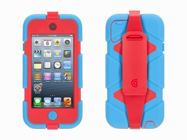 Griffin Blue/ Red Survivor All-Terrain Case + Belt Clip for iPod touch (5th/ 6th gen.)   Extreme-duty case