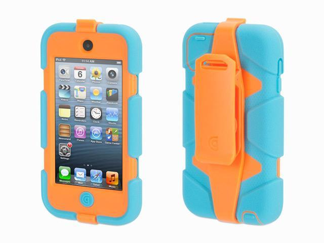 Griffin Turquoise/Orange Survivor All-Terrain Case + Belt Clip for iPod touch (5th/ 6th gen.)   Extreme-duty case