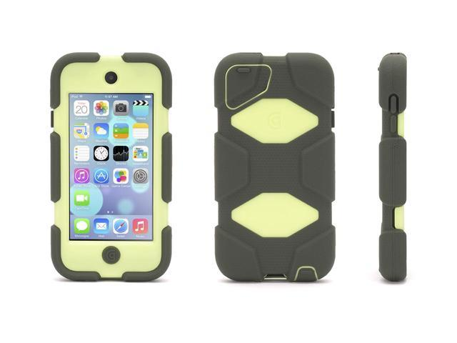 Griffin Olive/Lime Survivor All-Terrain Case + Belt Clip for iPod touch (5th/ 6th gen.)   Extreme-duty case