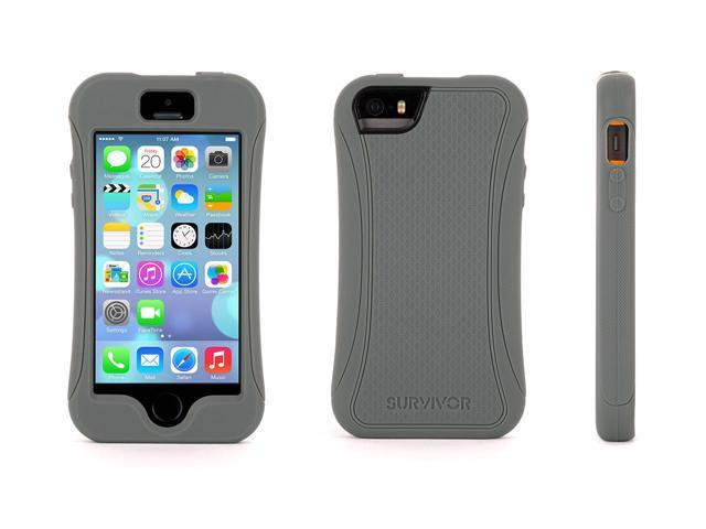 Griffin Grey Survivor Slim Protective Case for iPhone 5/5s   Mil-Spec Rugged Slimmed Down for the Street