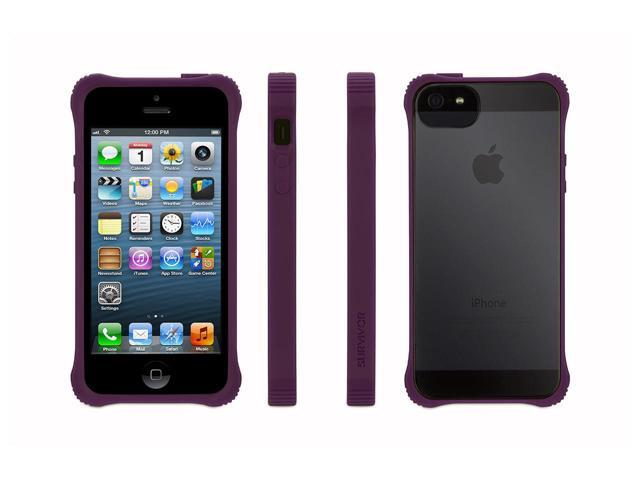 Griffin Purple Survivor Core, Clear Case for iPhone 5/5s, iPhone SE   See-through protection.  Extra tough at the corners.