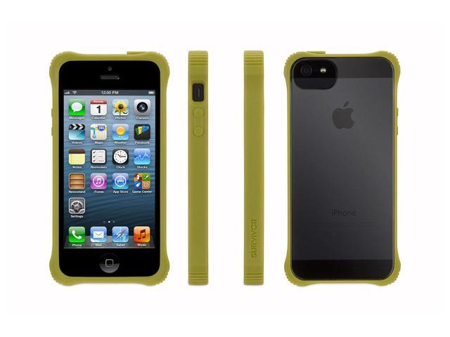 Green Survivor Core, Clear Case for iPhone 5/5s, iPhone SE,See-through protection.  Extra tough at the corners.