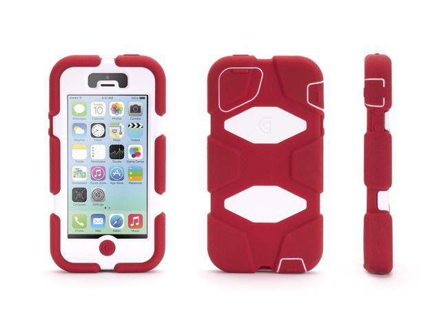 Griffin iPhone 5/5s, iPhone SE Rugged Case, Survivor All-Terrain, Crimson/White   Military-Duty Case