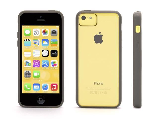Griffin Reveal Protective Clear Case with Grey Trim for iPhone 5c   Ultra-thin Hard-shell Clear Case