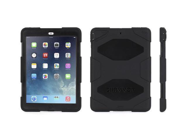 Griffin Black/Black Survivor Case + Stand for iPad Air