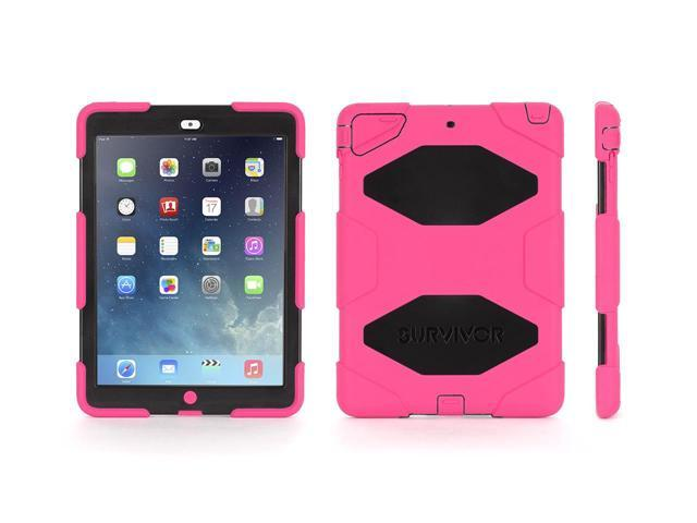 Griffin Pink/Black Survivor All-Terrain Case + Stand for iPad Air   Military-Duty Case