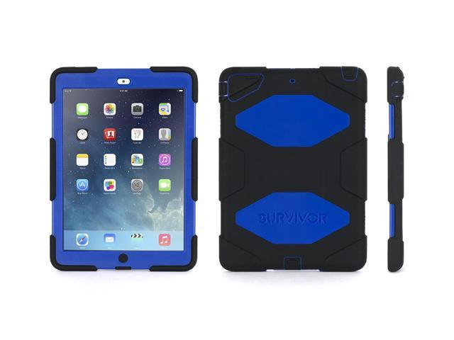 Griffin Black/Blue Survivor Case + Stand for iPad Air   Military-Duty Case- Direct from Griffin