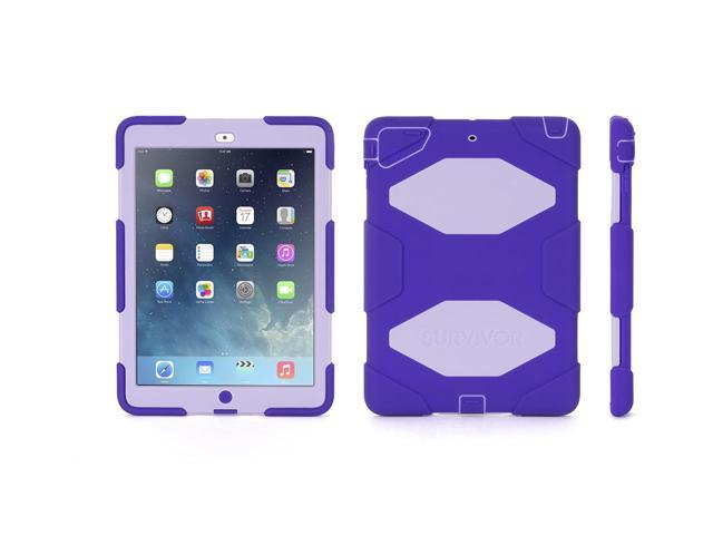 Griffin Purple/Lavender Survivor All-Terrain Case + Stand for iPad Air   Military-Duty Case- Direct from Griffin