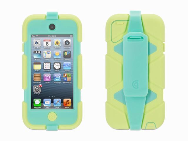 Griffin Lime/Mint Survivor All-Terrain Case + Belt Clip for iPod touch (5th/ 6th gen.)   Extreme-duty case
