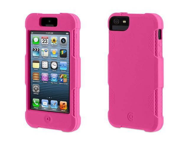 Griffin Pink Survivor Skin Protective Case for iPhone 5/5s, iPhone SE   6-foot drop protection from a silicone skin.