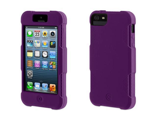 Griffin Purple Survivor Skin Protective Case for iPhone 5/5s   6-foot drop protection from a silicone skin.