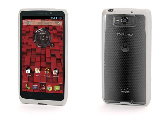 Griffin Reveal Protective Clear Case with White Trim for Motorola Droid Maxx   Ultra-thin hard-shell case