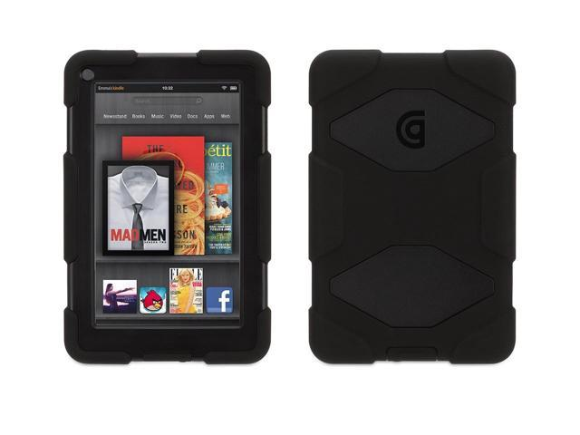 Griffin Black Protective Survivor Case for Kindle Fire   Military-duty case with stand