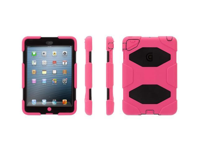 Griffin Pink/Black Survivor Case for iPad mini   Military-duty case with stand