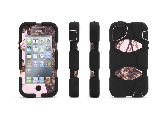 Griffin Pink Breakup/Black Survivor All-Terrain in Mossy Oak Camo Case with Belt Clip for iPhone 5/5s   Heavy-Duty Case in ...