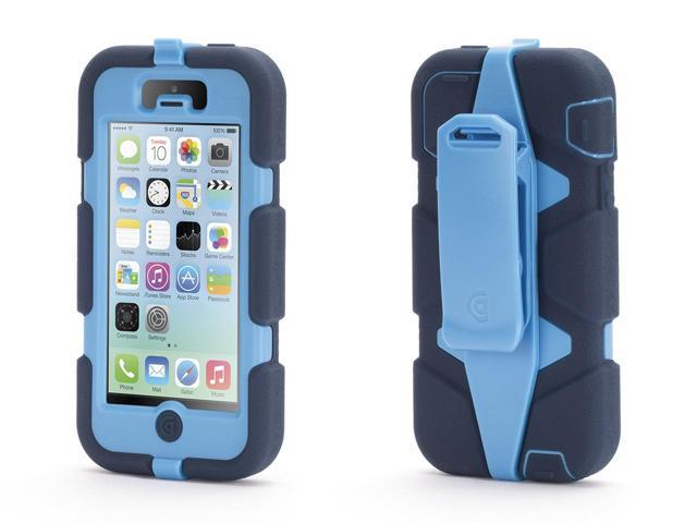 Griffin Cornflower/Navy Heavy Duty Survivor All-Terrain Case for iPhone 5/5s   Military-Duty Case