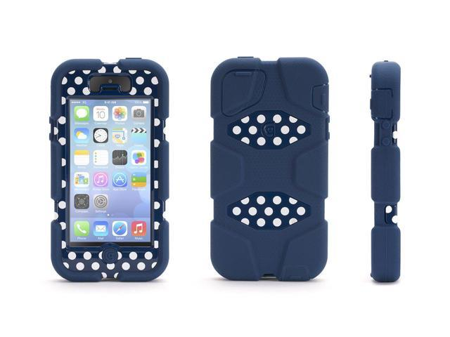 Blue/ Polka Dots Heavy Duty Survivor All-Terrain Case for iPhone 5/5s, iPhone SE,Impact Resistant Military-Duty Case
