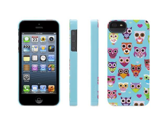 Griffin Wise Eyes Owl Case for Apple iPhone 5 (Turquoise/Pink) - GB36116