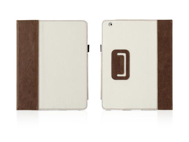 Sand/Tobacco Aged Elan Folio for iPad 2, 3, and iPad 4th Gen,Stylish folio case with Aged Design