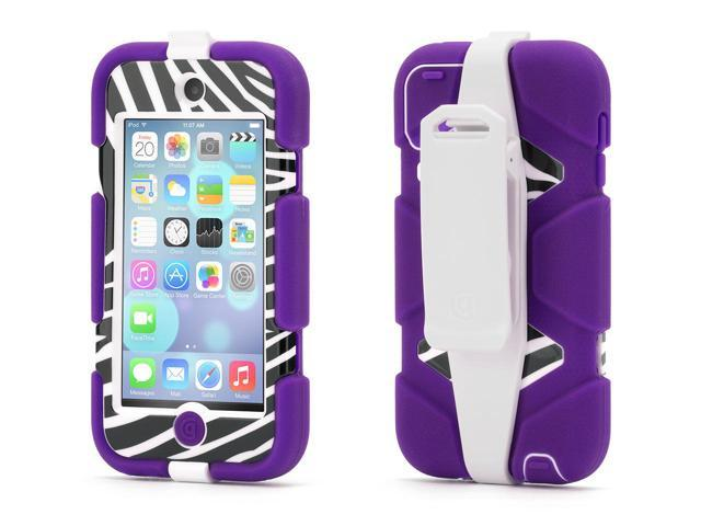 Griffin Purple/Zebra Survivor All-Terrain Protective Case for iPod touch (5th/ 6th gen.)   Extreme-duty case