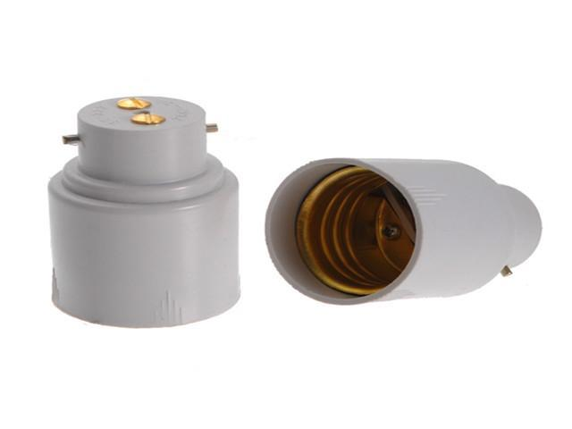 B22 to E27 Base LED Halogen CFL Light Lamp Bulb Holder Adapter Converter Socket