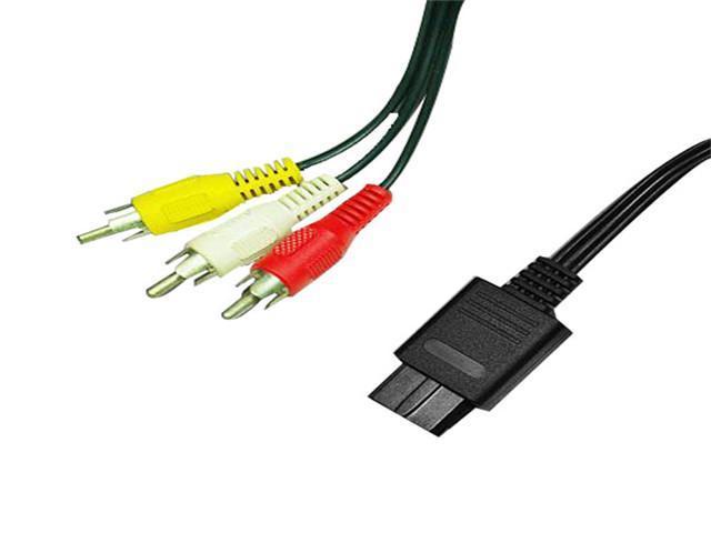 1.8m Composite RCA AV TV Video Cord Cable for Nintendo 64 N64 GameCube GC Black