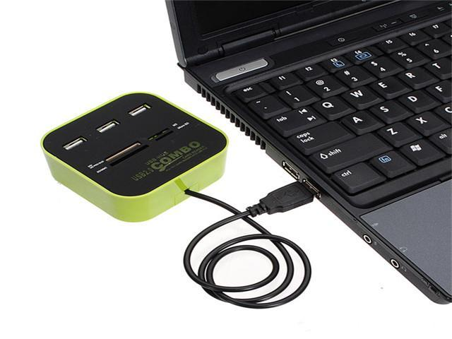 USB 2.0 Hub 3 Port and All In One Multi Card Reader Combo for SD/MMC/M2/MS MP