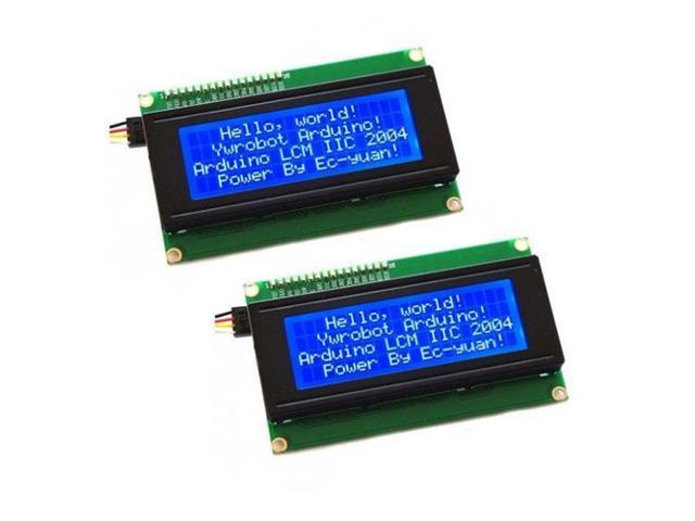 2pcs! 2x 2004 204 20X4 Character LCD Display Module Blue Blacklight for Arduino New