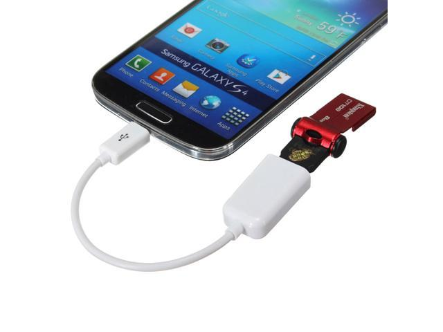 USB A Female to Micro B Male OTG Adapter Cable for GALAXY S3 Google Nexus7 Blk