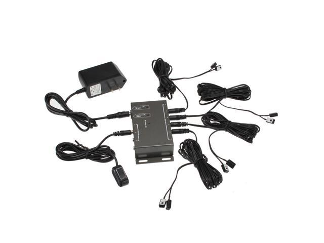 IR Remote Extender 8 Emitters 1 Receiver Infrared Repeater Hidden System Kit DC