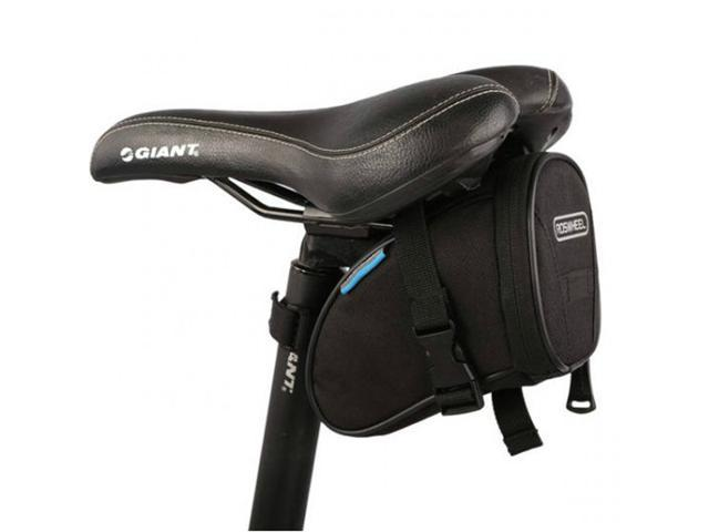 Outdoor Waterproof Cycling Bike Back Rear Saddle Seat Bag Storage Pouch - Black