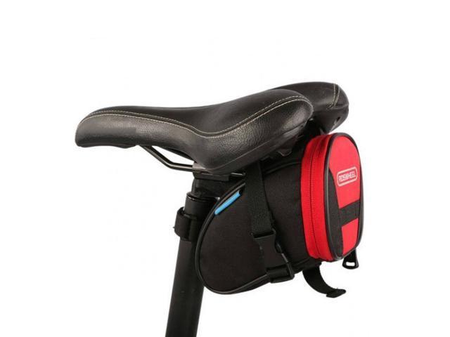 ROSWHEEL Outdoor Waterproof Bicycle Bike Back Rear Saddle Seat Bag Storage Pouch - Red/Black